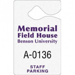 Hanging Parking Permit Promotional Custom Imprinted With Logo