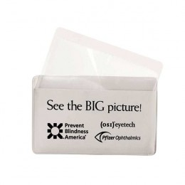 Magnifier/Credit Card Holder Promotional Custom Imprinted With Logo