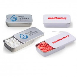 Slide Tin with Mini Mints Promotional Custom Imprinted With Logo