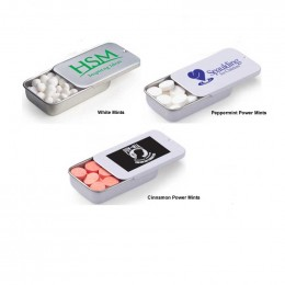 Slide Tin with Mints Promotional Custom Imprinted With Logo