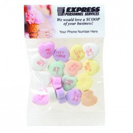 Conversation Hearts - 1 Oz Promotional Custom Imprinted With Logo