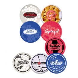 Round Credit Card Mints Promotional Custom Imprinted With Logo