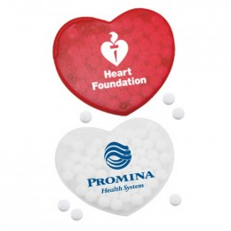 Heart Shaped Credit Card Mints Promotional Custom Imprinted With Logo