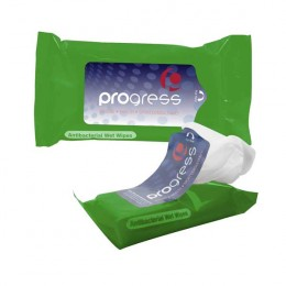 Tek-Wipes Antibacterial Wet Wipes in a Pouch Promotional Custom Imprinted W Logo
