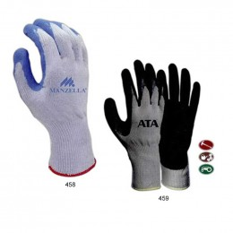 Flat Dip Poly/Cotton Knitted Gloves Promotional Custom Imprinted With Logo