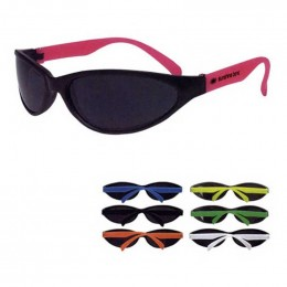Wave Rubberized Sunglasses Promotional Custom Imprinted With Logo
