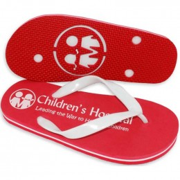 The 3-Layer Varsity Flip Flop Promotional Custom Imprinted With Logo
