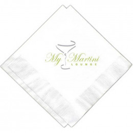 10 x 10 in. Beverage Napkin - 1 ply Promotional Custom Imprinted With Logo
