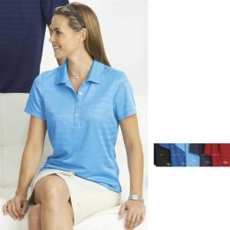 Ladies Textured Performance Polo Promotional Custom Imprinted With Logo