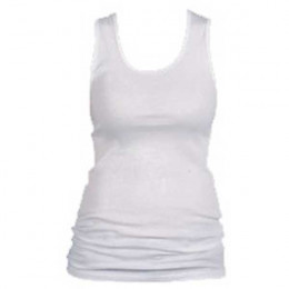 Boyfriend Tank - White Promotional Custom Imprinted With Logo