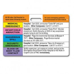 Hospital Emergency Badge w/slot Promotional Custom Imprinted With Logo