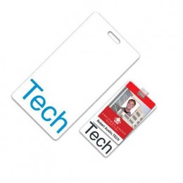 Vertical Hospital ID Badge w/slot Promotional Custom Imprinted With Logo