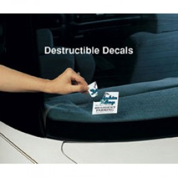 Custom Destructible Security Decal - 5in x 5in Promotional Custom Imprinted With Logo