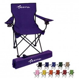 Folding Chair with Carrying Bag Promotional Custom Imprinted With Logo