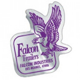 Chrome Polyester Custom Decal - 2in x 2in Promotional Custom Imprinted With Logo