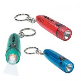 Cylinder Light Key Chain Promotional Custom Imprinted With Logo