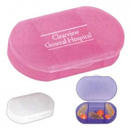 Oval Shape Pill Holder Promotional Custom Imprinted With Logo