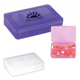 Rectangle Shape Pill Holder Promotional Custom Imprinted With Logo