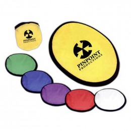 Flying Disc with Matching Pouch Promotional Custom Imprinted With Logo
