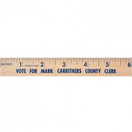 6 in. Natural Finish Flat Wood Ruler - 7/8 in. Custom Imprinted With Logo
