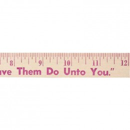 12 in. Natural Finish Flat Wood Ruler - 7/8 in.  Custom Imprinted With Logo