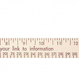 12 in. Natural Finish Flat Wood Ruler - English and Metric Imprinted With Logo