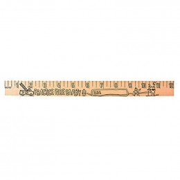 U Color Ruler - Fire Safety Promotional Custom Imprinted With Logo