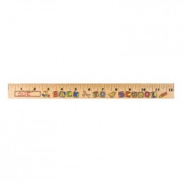 U Color Ruler - Back-to-School Promotional Custom Imprinted With Logo