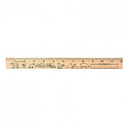 U Color Ruler - Farm Animals Promotional Custom Imprinted With Logo