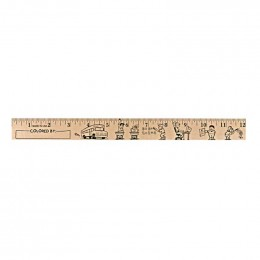 U Color Ruler - Kids at School Promotional Custom Imprinted With Logo