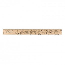 U Color Ruler - Dinosaurs Promotional Custom Imprinted With Logo