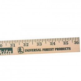 Natural Finish Yardstick Promotional Custom Imprinted With Logo