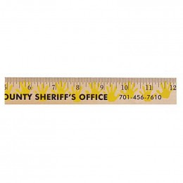 12 in. Background Ruler - Handprint Promotional Custom Imprinted With Logo