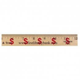 12 in. Background Ruler - Dollar Sign/Financial Custom Imprinted With Logo