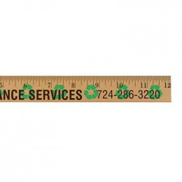 12 in. Background Ruler - Recycling Promotional Custom Imprinted With Logo