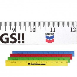 12 in. Enamel Wood Ruler Promotional Custom Imprinted With Logo