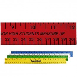 12 in. Enamel Wood Ruler - English and Metric Custom Imprinted With Logo