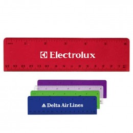6 in. Plastic Ruler Promotional Custom Imprinted With Logo