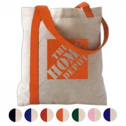Striped Economy Tote Promotional Custom Imprinted With Logo