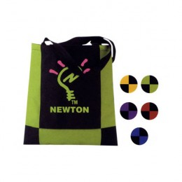 Carina Color Block Tote Bag Promotional Custom Imprinted With Logo