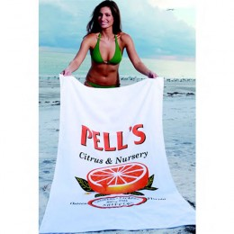 The Large Platinum Collection Beach Towel Promotional Custom Imprinted With Logo