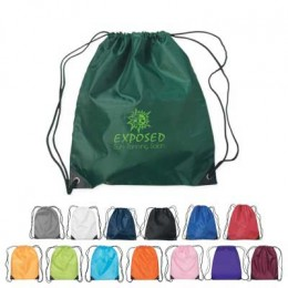 Nylon Drawstring Sports Pack With Reinforced Corners