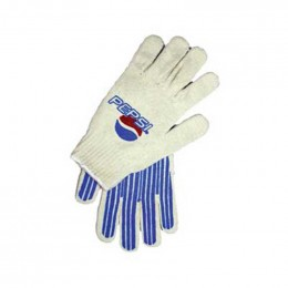 Cotton-poly blend glove - custom palm Promotional Custom Imprinted With Logo