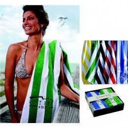 Cabana Beach Towel Promotional Custom Imprinted With Logo