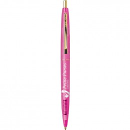 BIC Clear Clic Pen Promotional Custom Imprinted With Logo