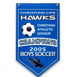 4ft. x 8ft. Champtionship Banner Promotional Custom Imprinted With Logo