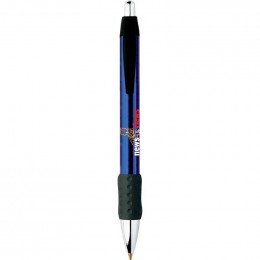 BIC WideBody Chrome Grip Pen Promotional Custom Imprinted With Logo