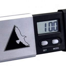 LCD Desk Travel Clock Promotional Custom Imprinted With Logo