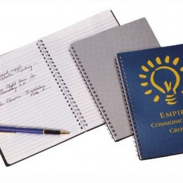 Apollo Jr. Spiral Notebook Promotional Custom Imprinted With Logo