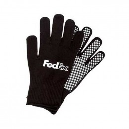Acrylic knit glove- dotted palm Promotional Custom Imprinted With Logo
